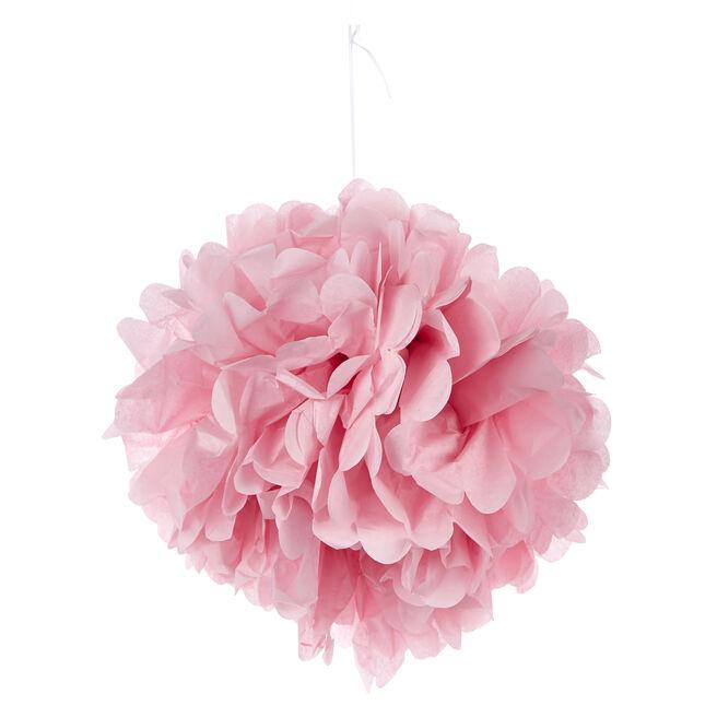 Tissue Paper Pom-Pom Party Decoration - Light Pink