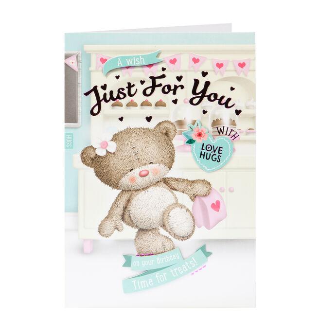Hugs Bear Birthday Card - Time For Treats