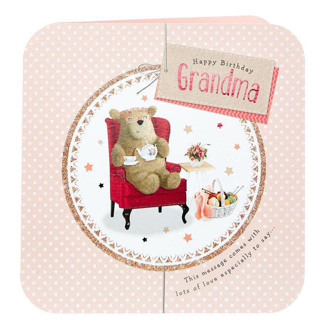 Platinum Collection Birthday Card - Grandma Bear