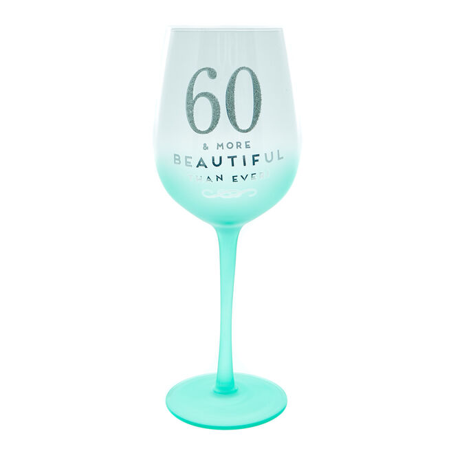 60th Birthday Wine Glass - More Beautiful Than Ever