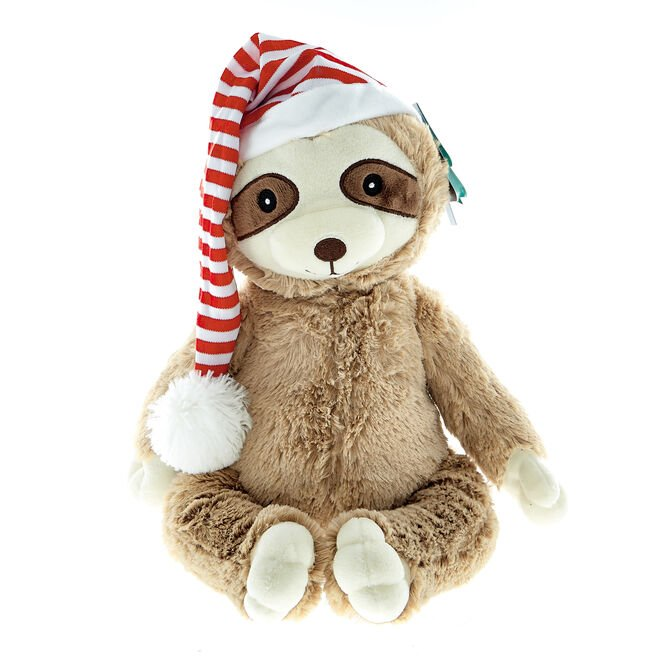 Sloth Christmas Soft Toy