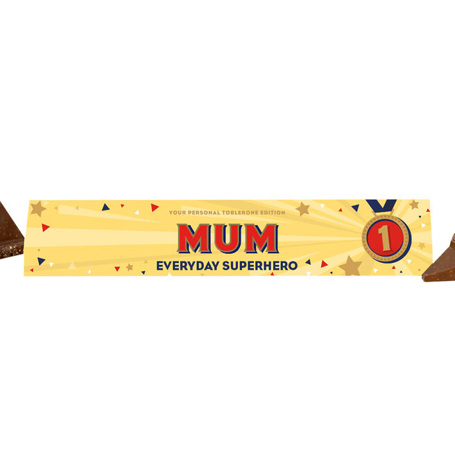 Personalised Everyday Superhero Milk Chocolate Toblerone 360g