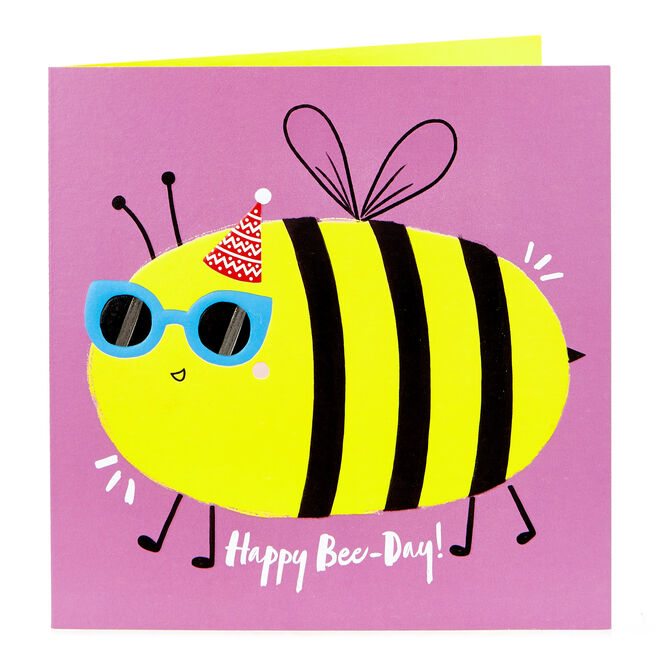 Birthday Card - Happy Bee-Day!