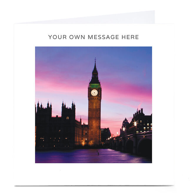 Personalised Card - Big Ben