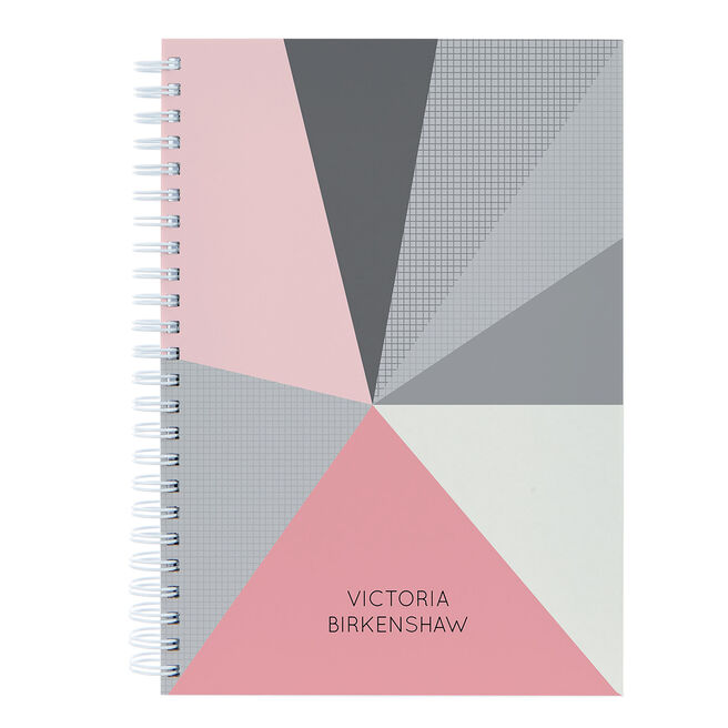 Personalised Notebook - Polygonal Pattern