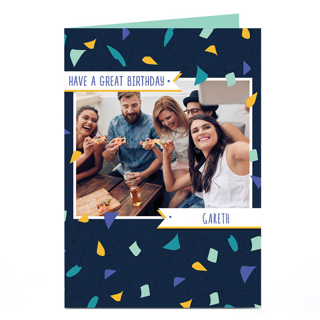 Personalised Birthday Photo Card - Have A Great Birthday