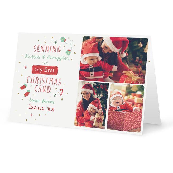 Photo Christmas Card - First Christmas Card