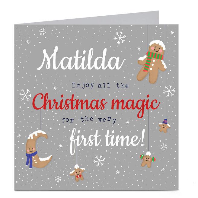 Personalised 1st Christmas Card - Christmas Magic