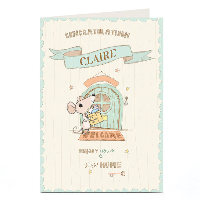 Personalised New Home Card - Welcome Mouse
