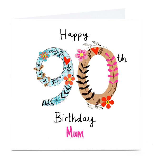 Personalised Lindsay Kirby 90th Birthday Card