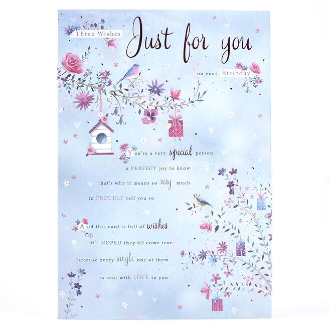 Birthday Card - Three Wishes