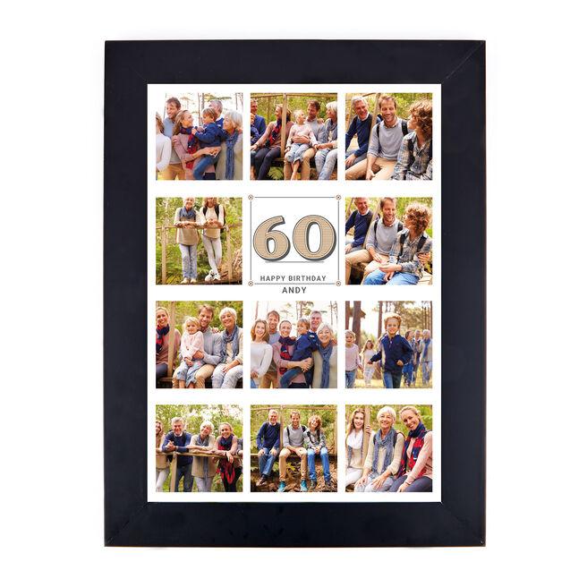 Personalised Milestone Age Photo Print - Any Age Collage Print