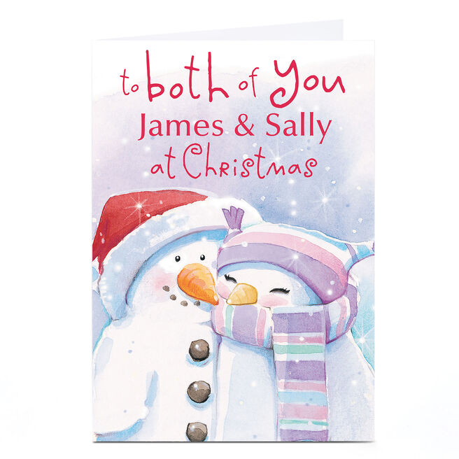 Personalised Christmas Card - Two Snowmen