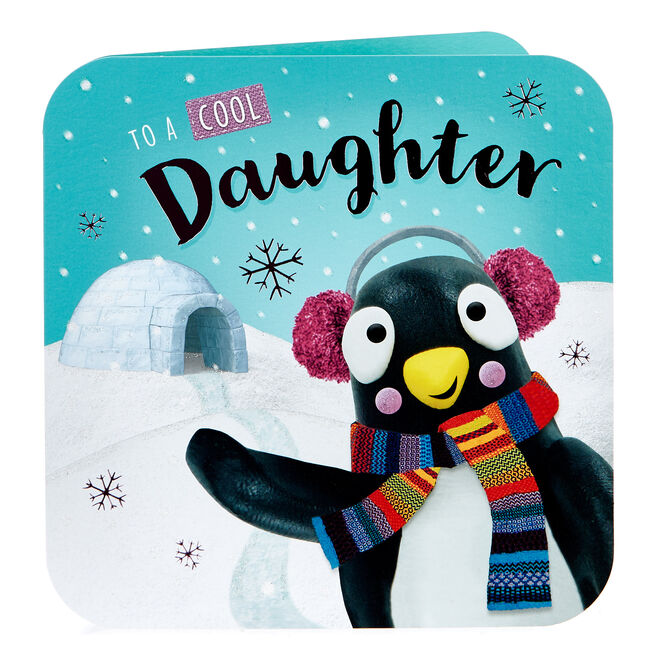 Christmas Card - Cool Daughter, Penguin