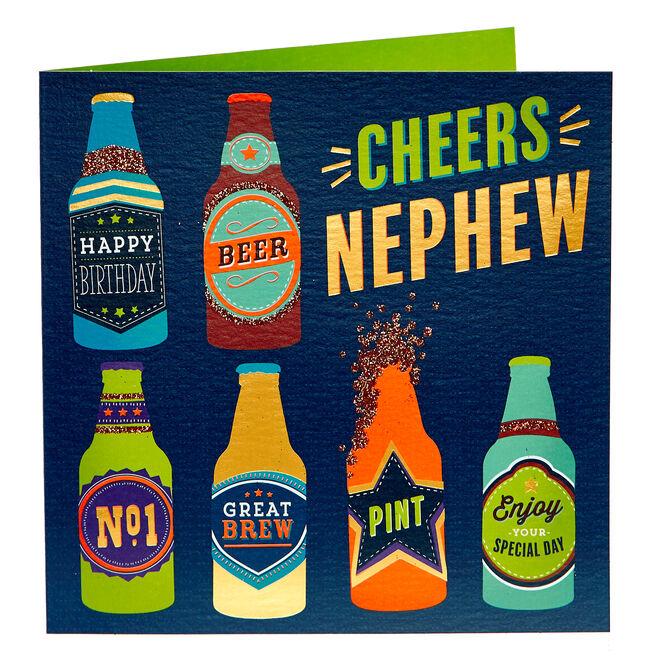 Birthday Card - Cheers Nephew
