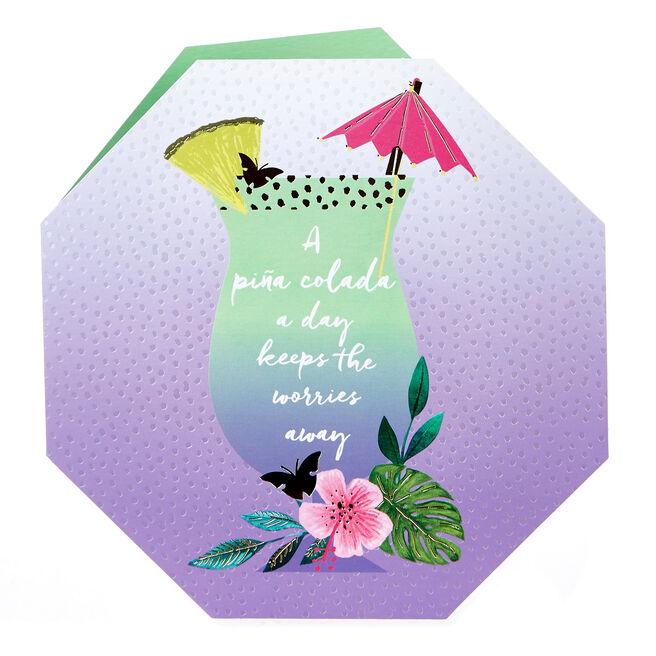 Blank Card - A Pina Colada A Day