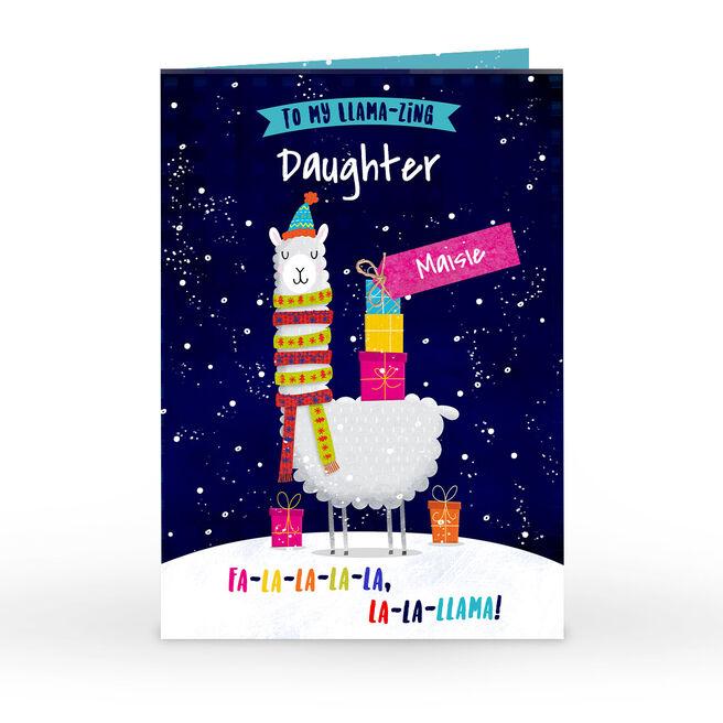 Personalised Christmas Card - To My Llama-Zing Daughter