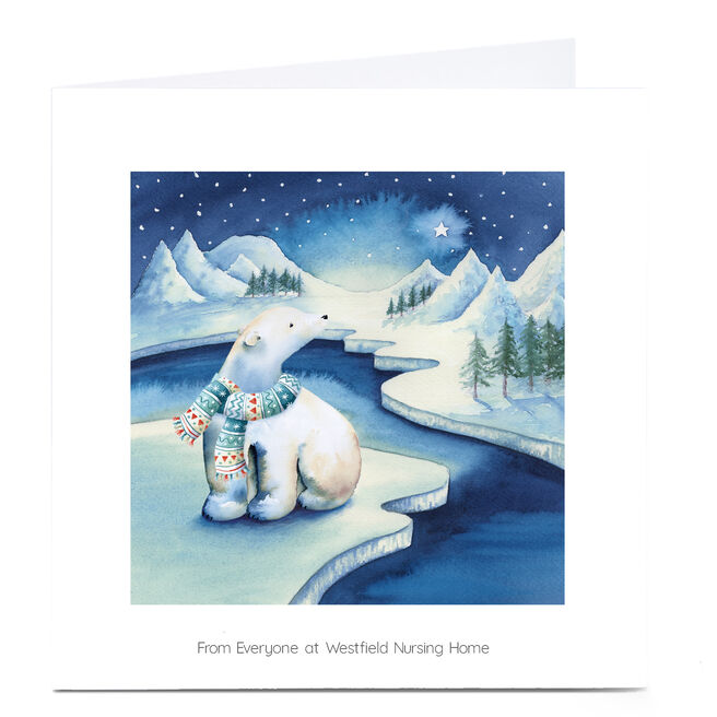 Personalised Business Christmas Card - Arctic Night