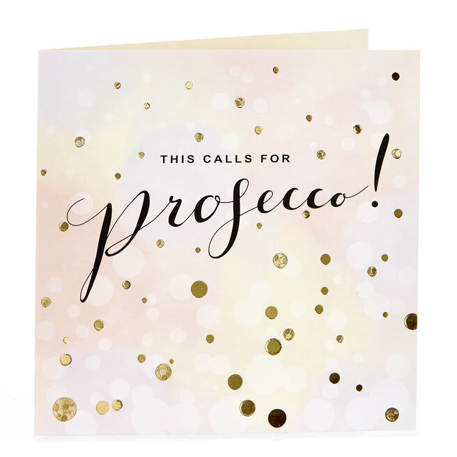 Blank Card - This Calls For Prosecco