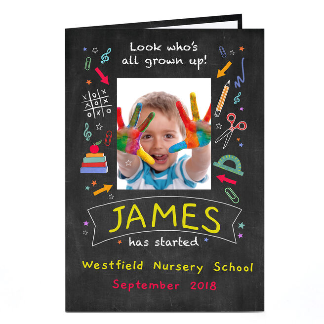 Photo Back To School Card - All Grown Up