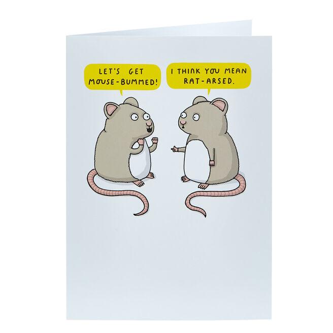 Mungo & Shoddy Card - Mouse-Bummed!