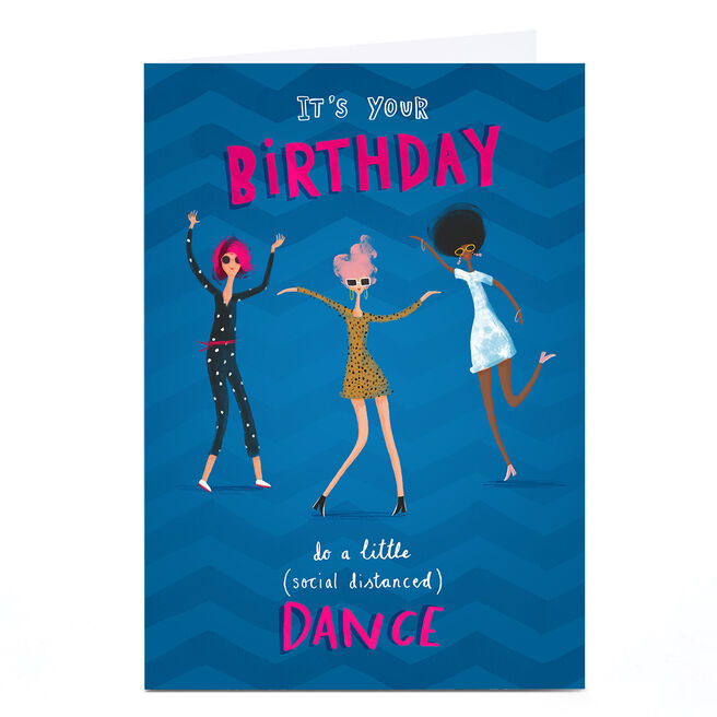 Personalised Andrew Thornton Birthday Card - Social Distanced Dance