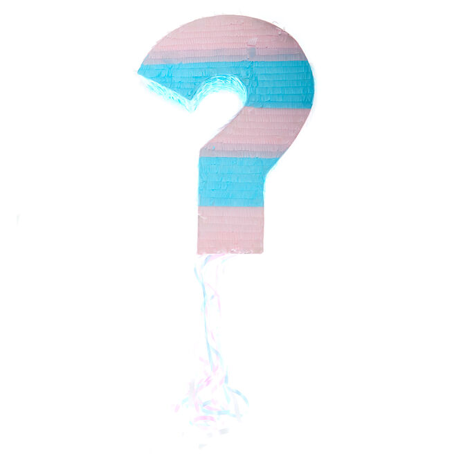 Gender Reveal Question Mark Pull Piñata