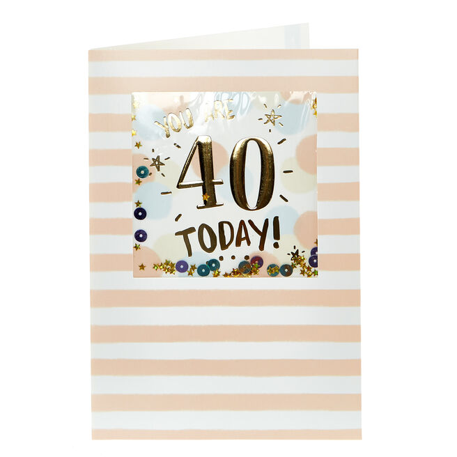 40th Birthday Card - You Are 40 Today