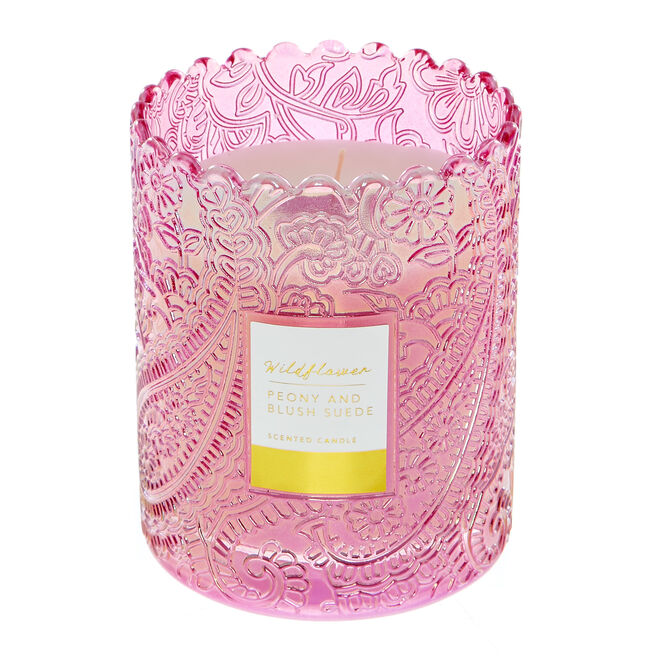 Wildflower Peony & Blush Suede Scented Candle