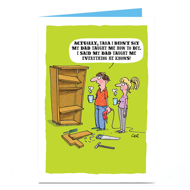 Personalised Card - DIY Cartoon