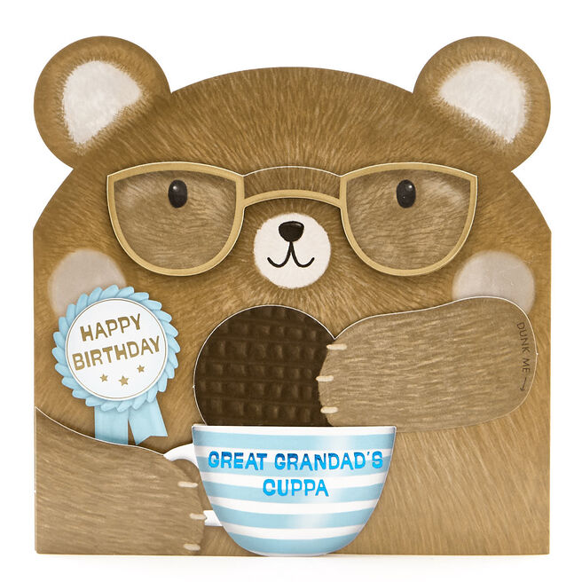 VIP Collection Birthday Card - Great Grandad Bear