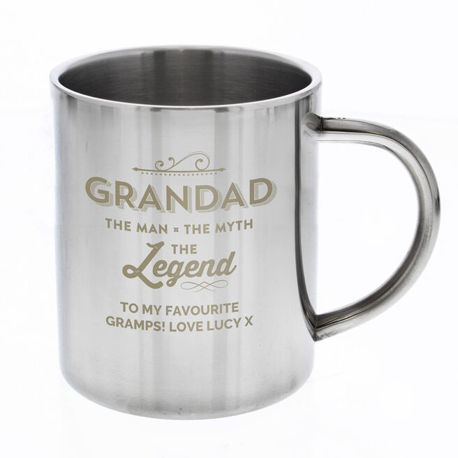 Personalised Steel Mug - Grandad The Legend
