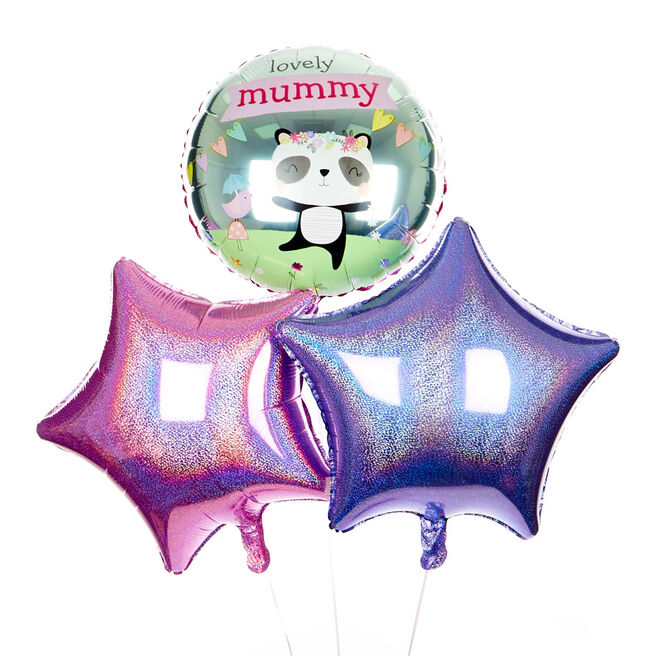 Pink and Lilac Lovely Mummy Balloon Bouquet - DELIVERED INFLATED!