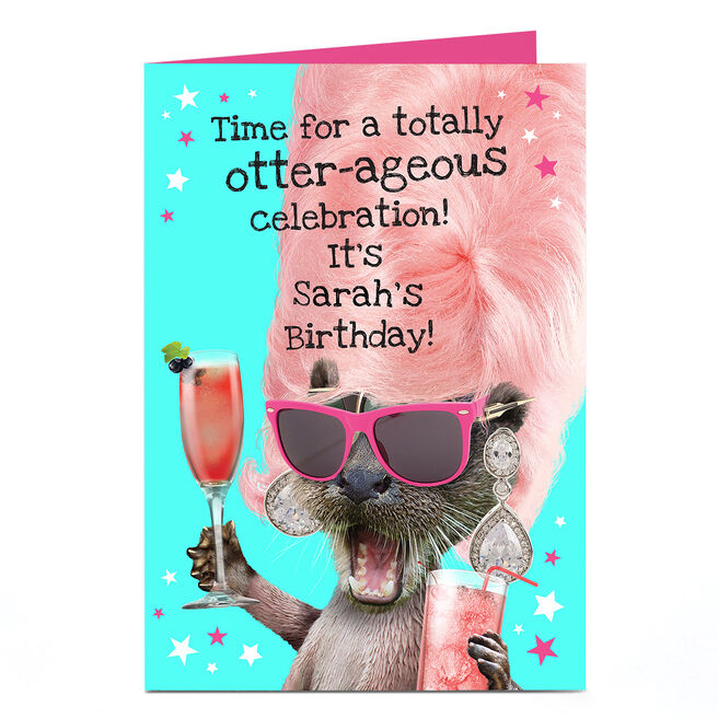 Personalised Heritage Wild Birthday Card - Totally Otter-ageous