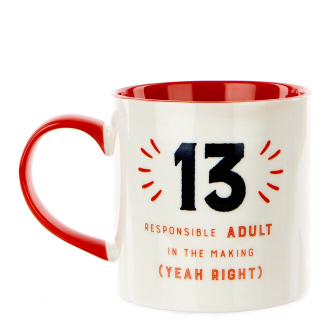 13th Birthday Mug - Responsible Adult In The Making