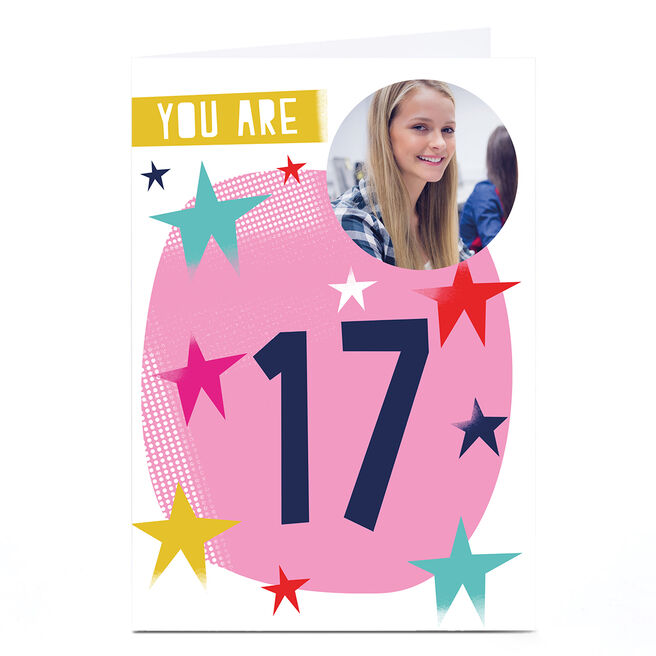 Photo Hello Munki Birthday Card - Age 17