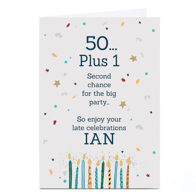 Personalised Covid Birthday Card - 50 plus 1