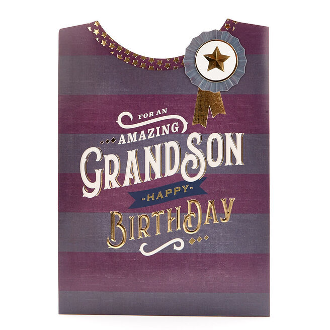 Signature Collection Birthday Card - Amazing Grandson