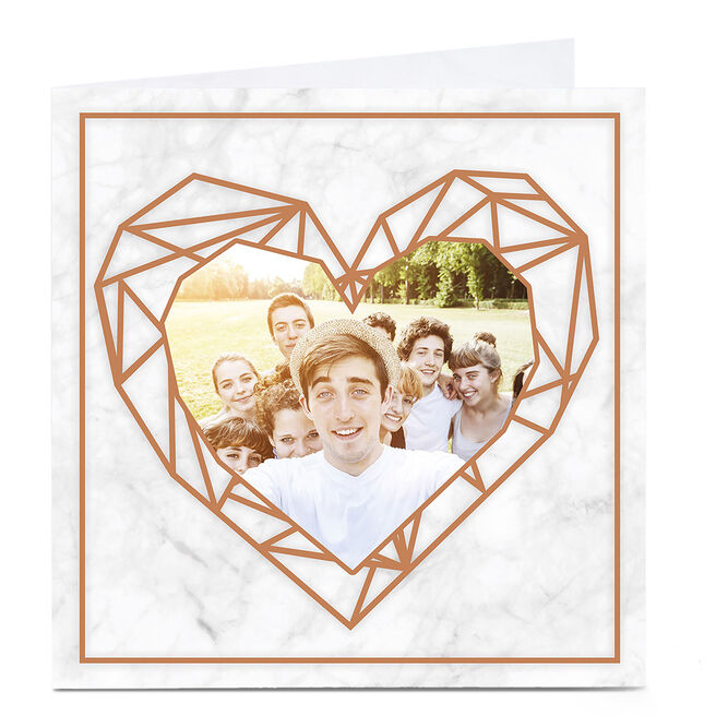 Photo Card - Marble And Gold Heart