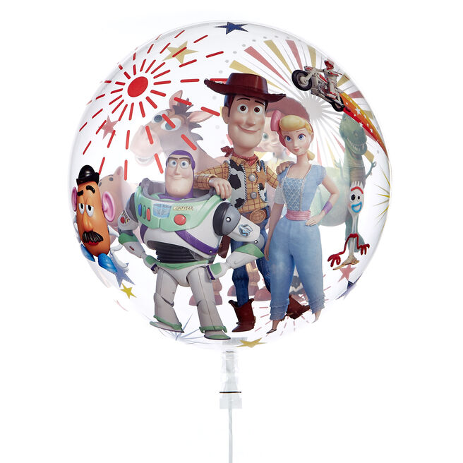 22-Inch Bubble Balloon - Toy Story 4 - DELIVERED INFLATED!