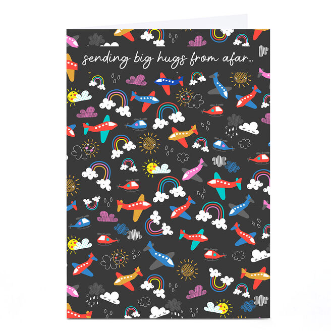 Personalised Rachel Griffin Birthday Card - Sending Big Hugs From Afar