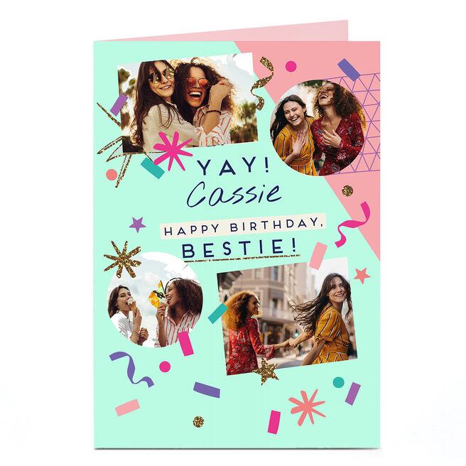 Photo Birthday Card  - Yay! Bestie