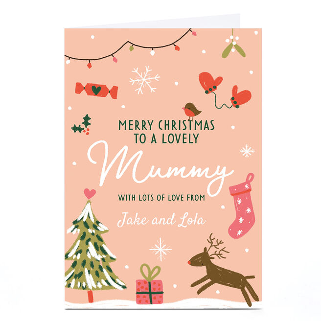 Personalised Juniper and Rose Studio Christmas Card - Mummy