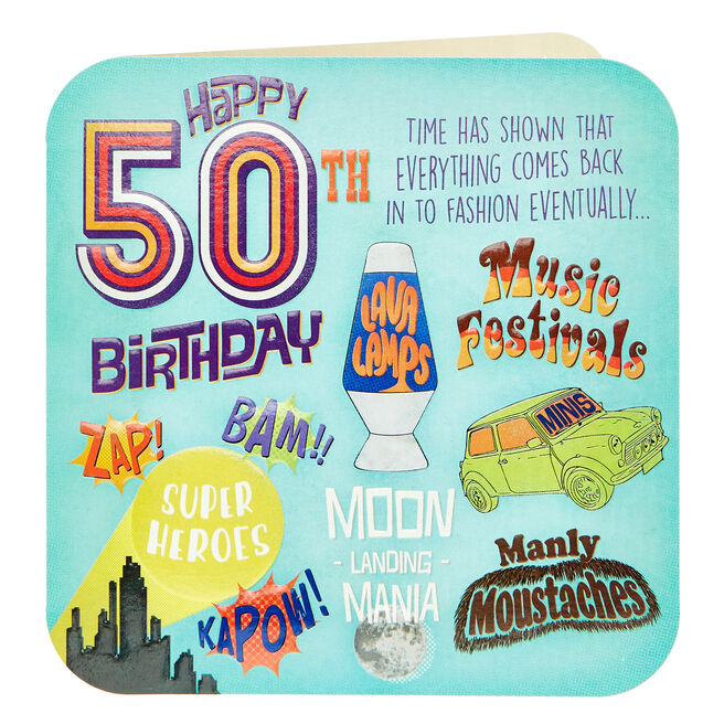 Platinum Collection 50th Birthday Card - Time Has Shown...