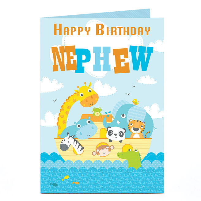 Personalised Birthday Card - Animal Ark [Nephew]