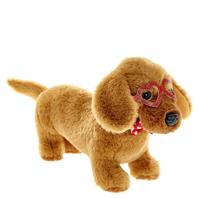 Sausage Dog Soft Toy - Heart Glasses