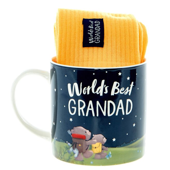 World's Best Grandad Hugs Mug & Socks Set
