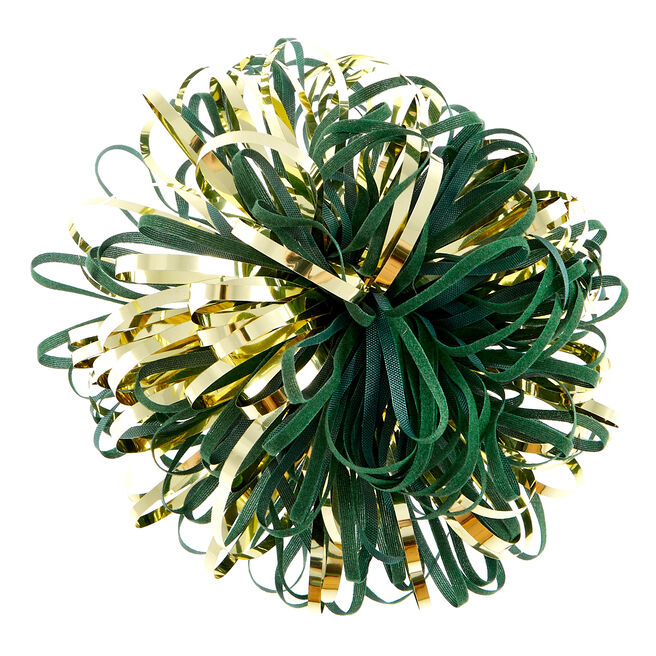 Luxury Green & Gold Gift Bow