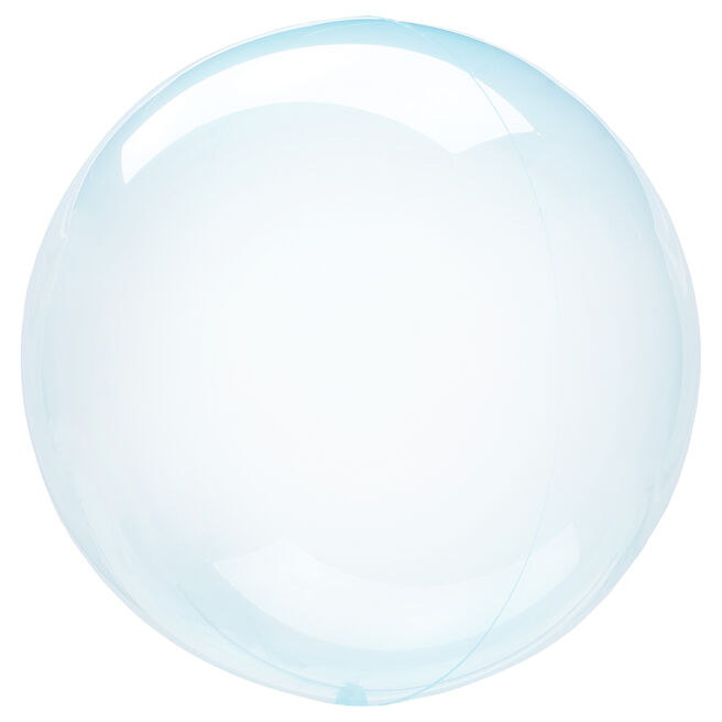 12-Inch Clear Blue Orb-Shaped Helium Balloon