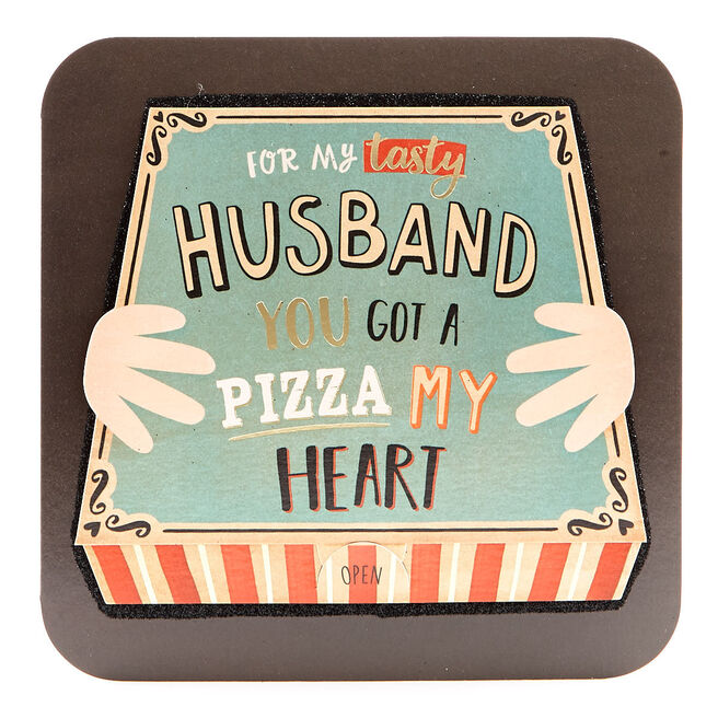 VIP Collection Birthday Card - Husband Pizza My Heart